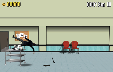 Screenshot 1: Superman vs trolley